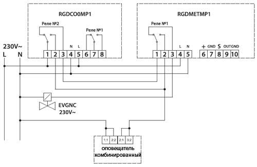 Схема подключения комплекта сигнализаторов Сейтрон (Seitron) для коттеджа.